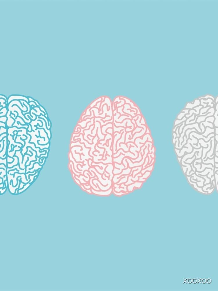 Brainy Pastell Pattern (Super Pastel Brains) von XOOXOO