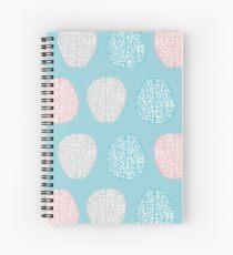 Brainy Pastel Pattern (Awesome Pastel Brains) Spiral Notebook