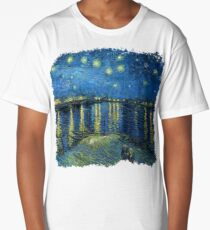 Starry Night Over The Rhone - Van Gogh Long T-Shirt