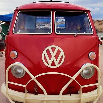 Red VW Bus by tvlgoddess