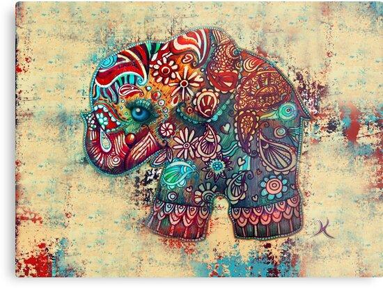 Vintage Elephant by Karin Taylor