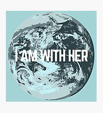 I AM WITH HER Photographic Print