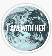 I AM WITH HER Sticker