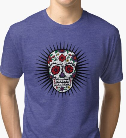 Sugar Skull two Tri-blend T-Shirt