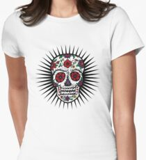 Sugar Skull two Women's Fitted T-Shirt