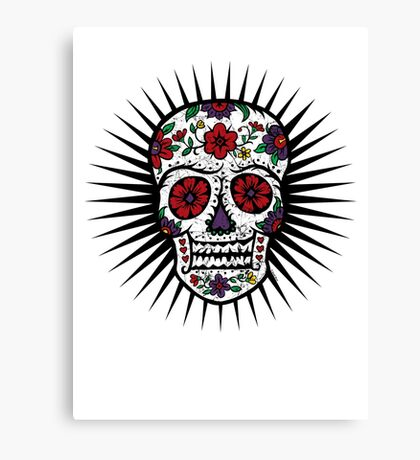 Sugar Skull two Canvas Print