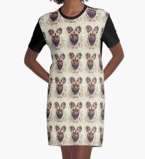 African Wild Dog Graphic T-Shirt Dress