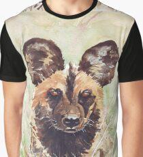 African Wild Dog Graphic T-Shirt