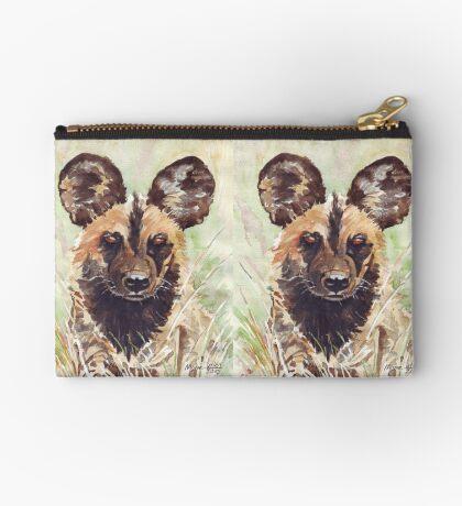 African Wild Dog Zipper Pouch