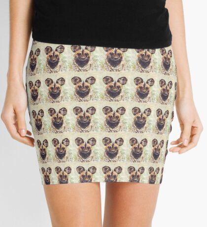 African Wild Dog Mini Skirt