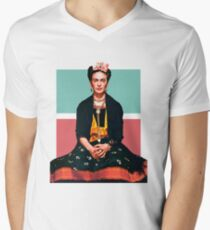 Frida Kahlo Vogue Men's V-Neck T-Shirt