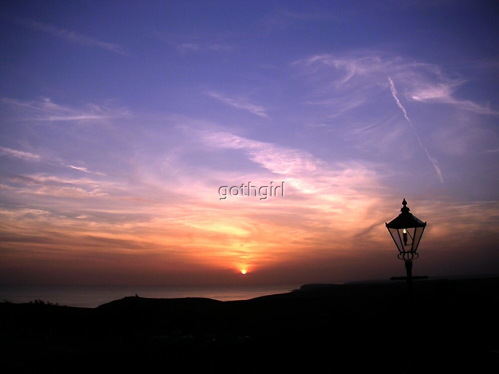 sunset at Beachy Head by gothgirl