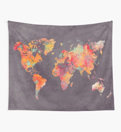 world map 67 Wall Tapestry