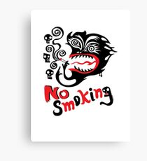 No Smoking - monster Canvas Print