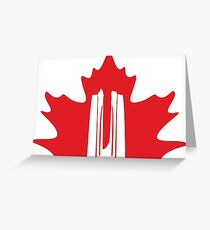 Vimy Monument Maple Greeting Card