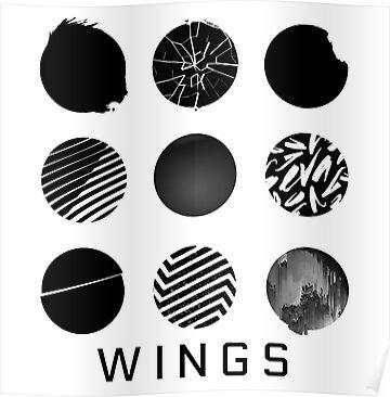 Quot Bts Wings Quot Posters By Minpop Redbubble