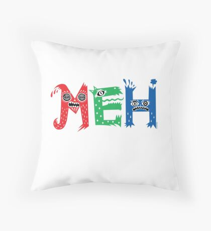 MEH Throw Pillow