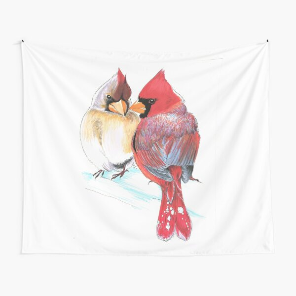 Northern Cardinals Tapestry