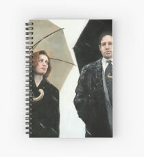 X Files Mulder & Scully Painting (most products) Spiral Notebook