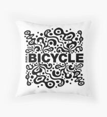 Ride a Bicycle - funky Throw Pillow