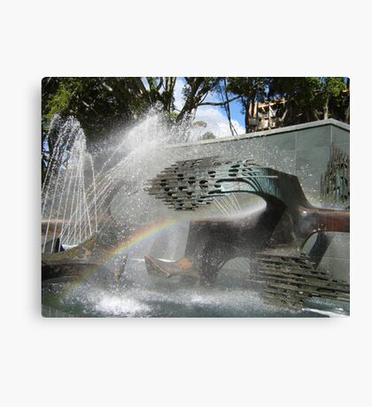 Newcastle (NSW) - Civic Fountain Rainbow Canvas Print