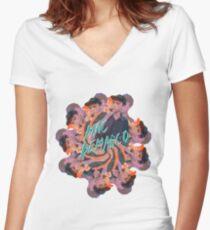 Demarco Flower Women's Fitted V-Neck T-Shirt