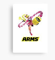 Ribbon Girl Arms Canvas Print