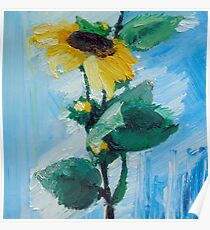 Painterly Sunflower Oil Painting Poster
