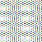 Hexagons pattern by Olga Chetverikova