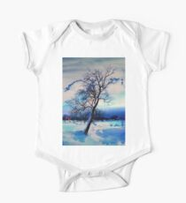 Tree in the snow One Piece - Short Sleeve