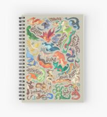 Mini dragon compendium  Spiral Notebook