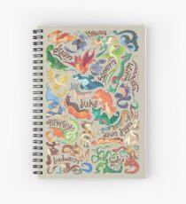 Cuaderno de espiral Mini compendio de dragón