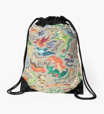 Mini dragon compendium  Drawstring Bag