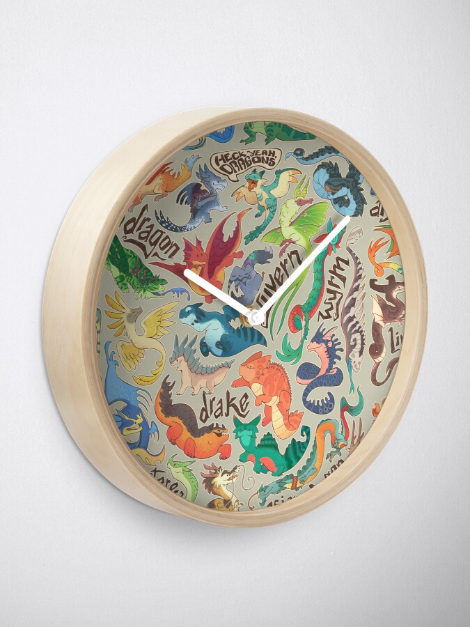 Alternate view of Mini dragon compendium  Clock