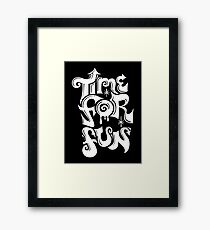 Time for fun - on darks Framed Print