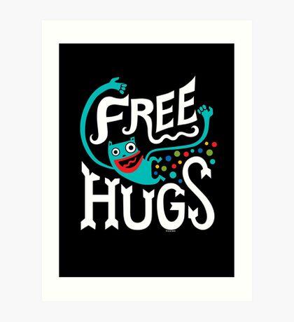 Free Hugs - on dark Art Print