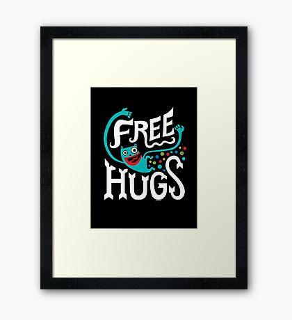Free Hugs - on dark Framed Print