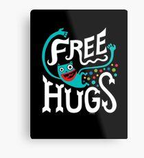 Free Hugs - on dark Metal Print