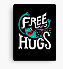 Free Hugs - on dark Canvas Print