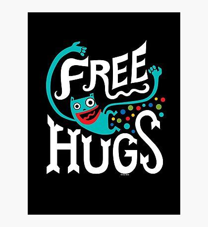 Free Hugs - on dark Photographic Print