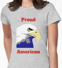 Proud American Womens Fitted T-Shirt