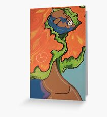 Lady Of Nature Greeting Card