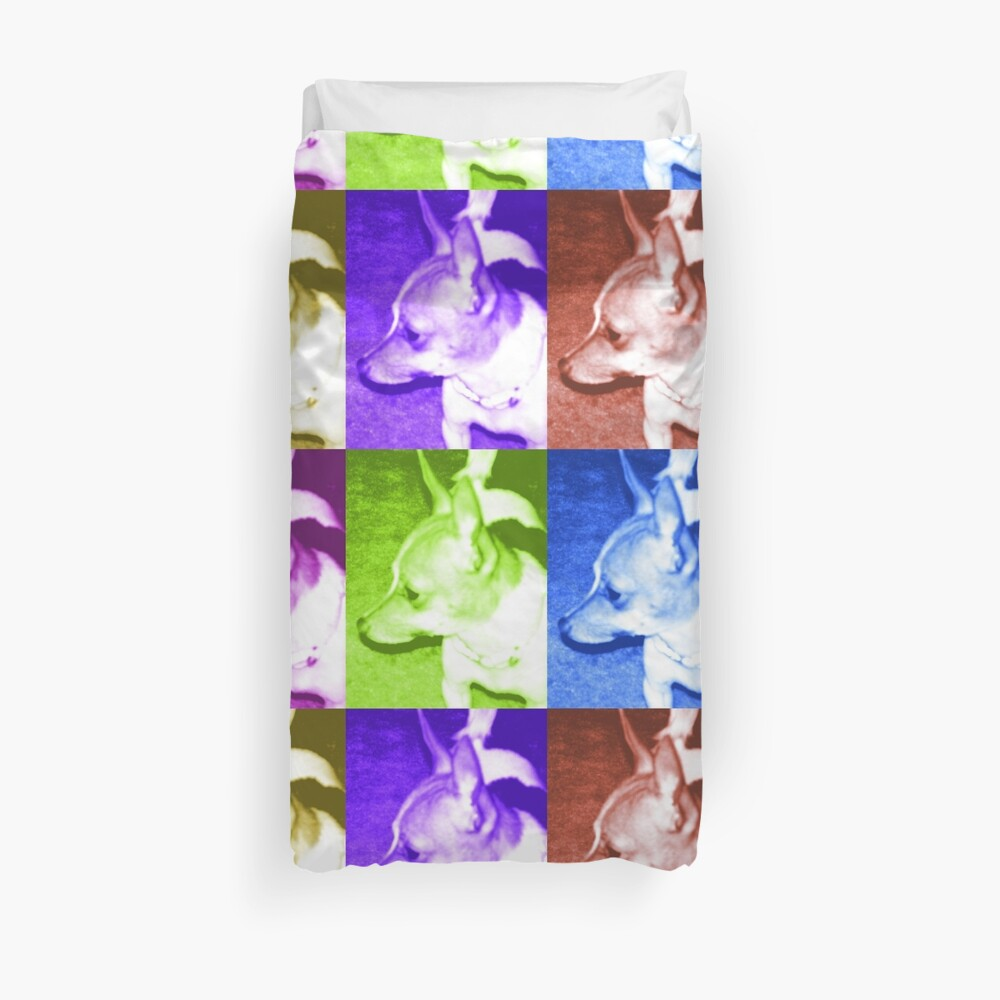 Pop Art Chihuahua  Duvet Cover