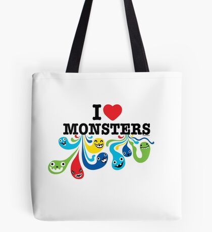 I Heart Monsters Tote Bag