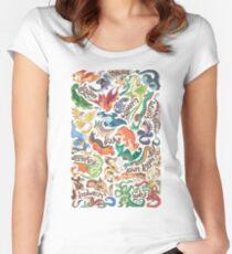 Mini dragon compendium  Women's Fitted Scoop T-Shirt