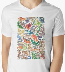Mini dragon compendium  Men's V-Neck T-Shirt
