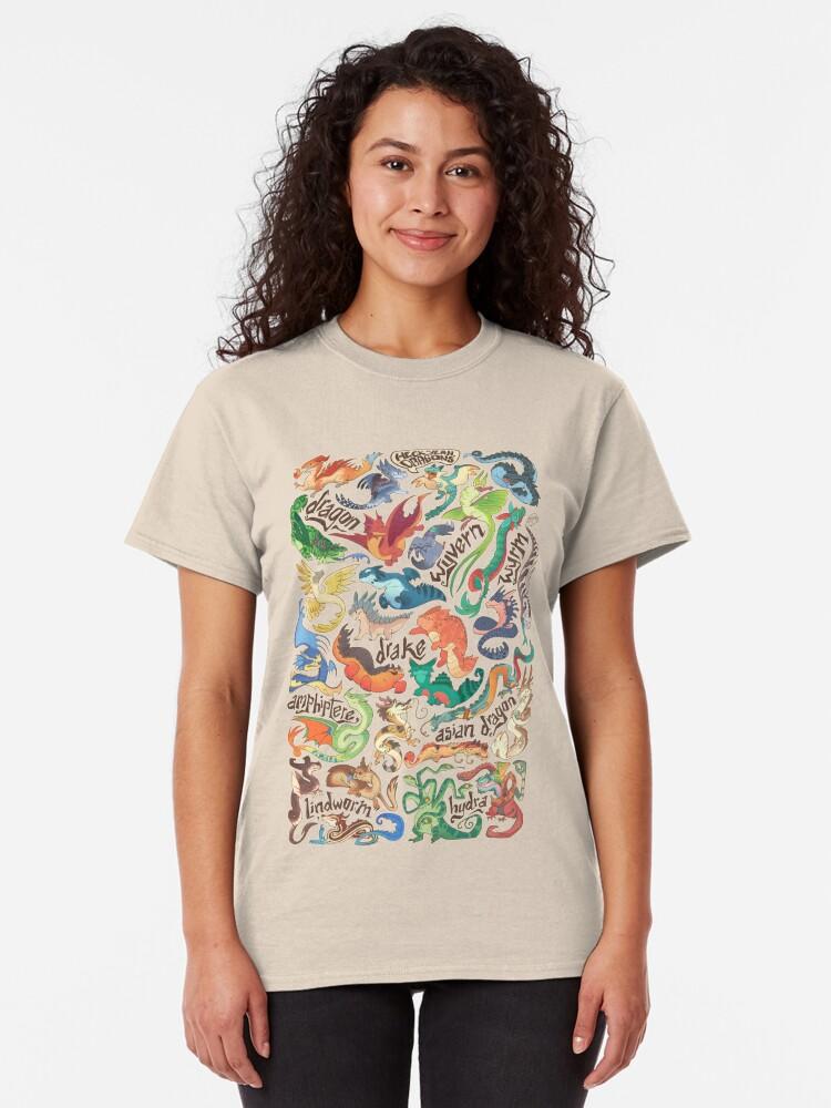 Alternate view of Mini dragon compendium  Classic T-Shirt