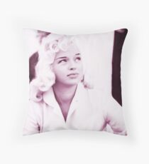 Diana Dors vintage color Throw Pillow