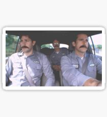 Jim, Dwight, and Micheal with Mustaches  Sticker