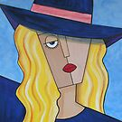 Blue Hat Lady by Vickie  Scarlett-Fisher